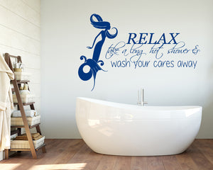 Relax Mermaid Shower Decal Vinyl Wall Sticker