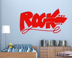 Rock Guitar Music Decal Vinyl Wall Sticker