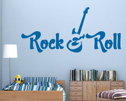 Rock Roll Electric Guitar Decal Vinyl Wall Sticker