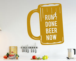 Run Beer Funny Decal Vinyl Wall Sticker