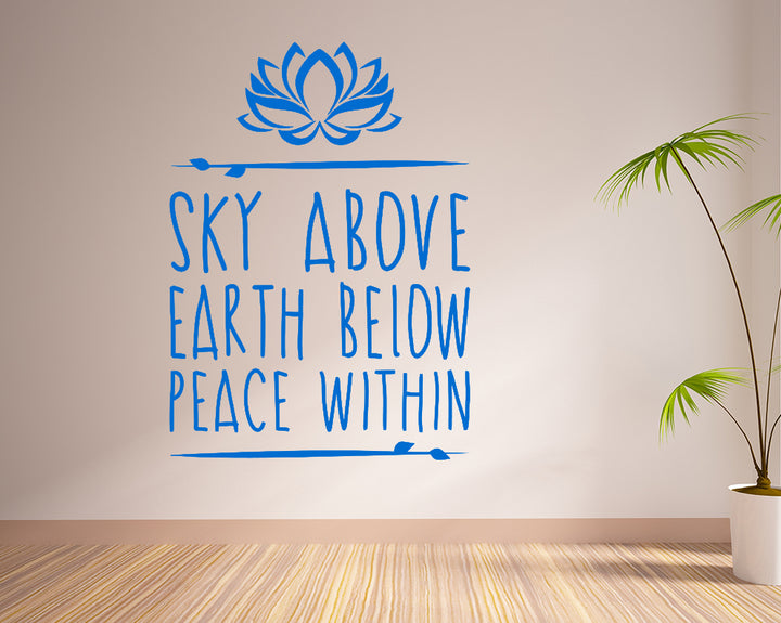 Sky Earth Peace Decal Vinyl Wall Sticker