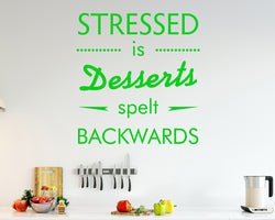 Funny Stressed Desserts Decal Vinyl Wall Sticker