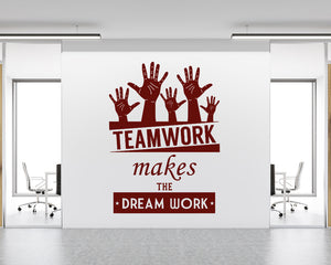 Team Dream Work Decal Vinyl Wall Sticker