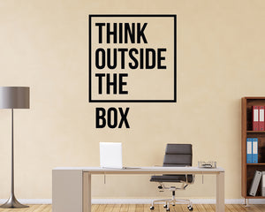 Think Outside Box Creative Decal Vinyl Wall Sticker