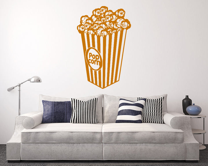 Cinema Popcorn Food Decal Vinyl Wall Sticker