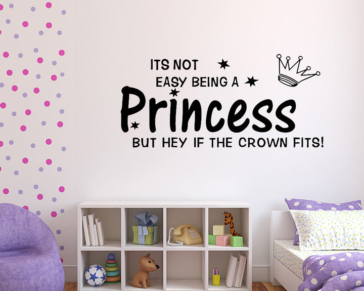 Princess Crown Fits Decal Vinyl Wall Sticker