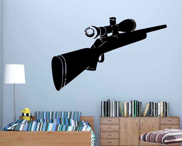 Cool Rifle Gun Decal Vinyl Wall Sticker