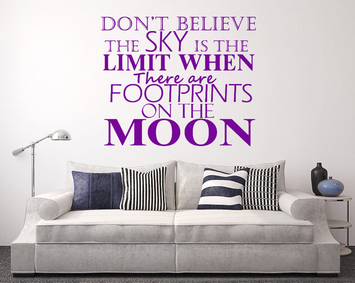 Footprints On The Moon Decal Vinyl Wall Sticker