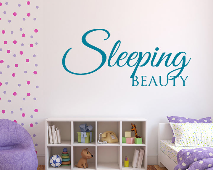 Sleeping Beauty Decal Vinyl Wall Sticker