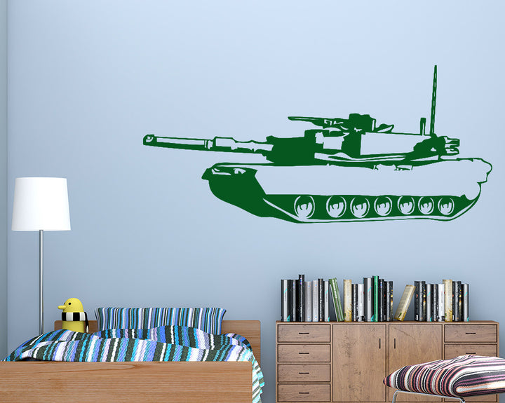 Cool Army Tank Decal Vinyl Wall Sticker