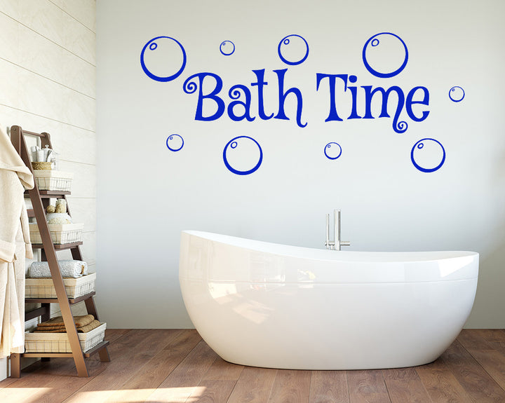 Bath Time Bubbles Decal Vinyl Wall Sticker