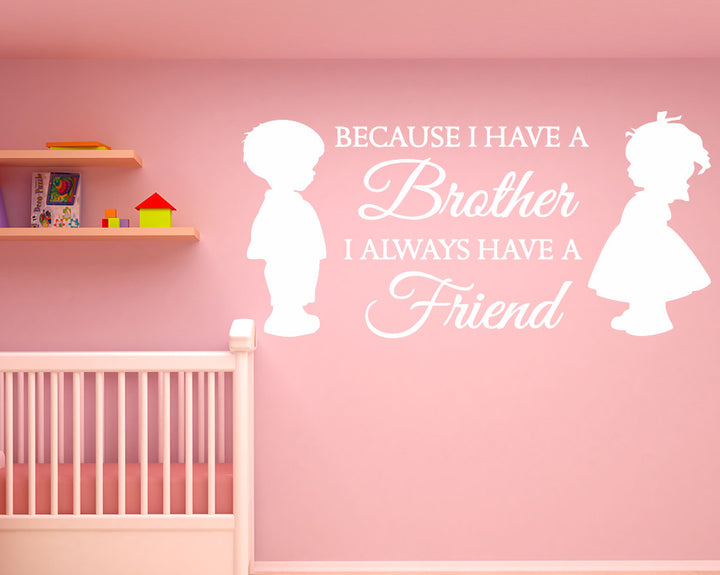 Brother Friend Cute Decal Vinyl Wall Sticker