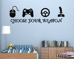 Gaming Weapon Decal Vinyl Wall Sticker