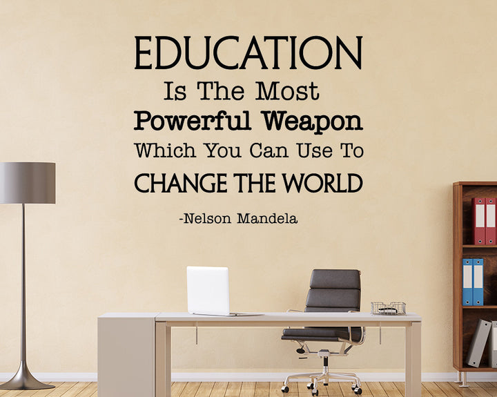 Education Powerful Weapon Decal Vinyl Wall Sticker