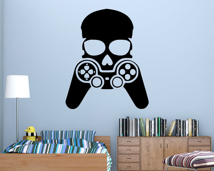 Gamer Skull Decal Vinyl Wall Sticker
