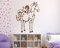 Horse And Monkey Decal Vinyl Wall Sticker