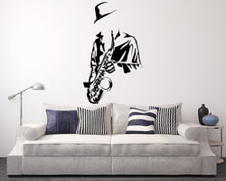 Saxophone Jazz Decal Vinyl Wall Sticker