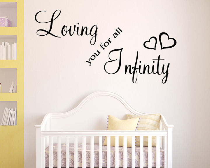 Love For Infinity Decal Vinyl Wall Sticker