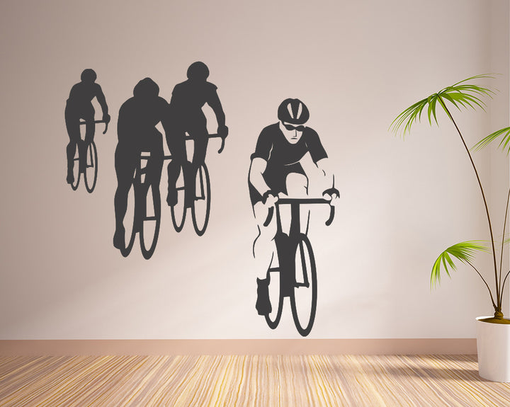 Bicycle Race Cycle Decal Vinyl Wall Sticker