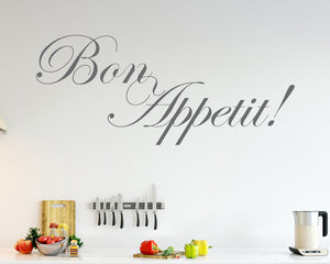 Bon Appetit Food Decal Vinyl Wall Sticker