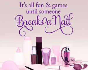 Fun Games Nails Decal Vinyl Wall Sticker