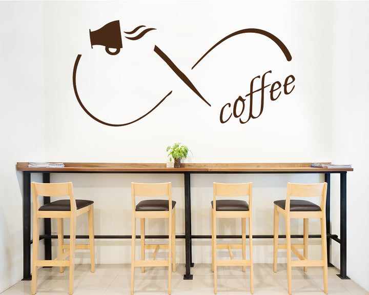Infinity Coffee Symbol Decal Vinyl Wall Sticker