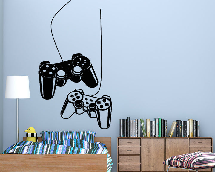 Gaming Controllers Two Player Decal Vinyl Wall Sticker