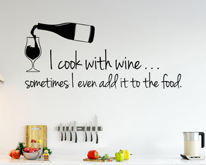 Funny Wine Food Quote Decal Vinyl Wall Sticker
