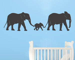 Cute Baby Elephant Family Decal Vinyl Wall Sticker