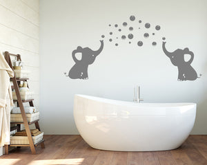 Cute Elephant Bubbles Decal Vinyl Wall Sticker