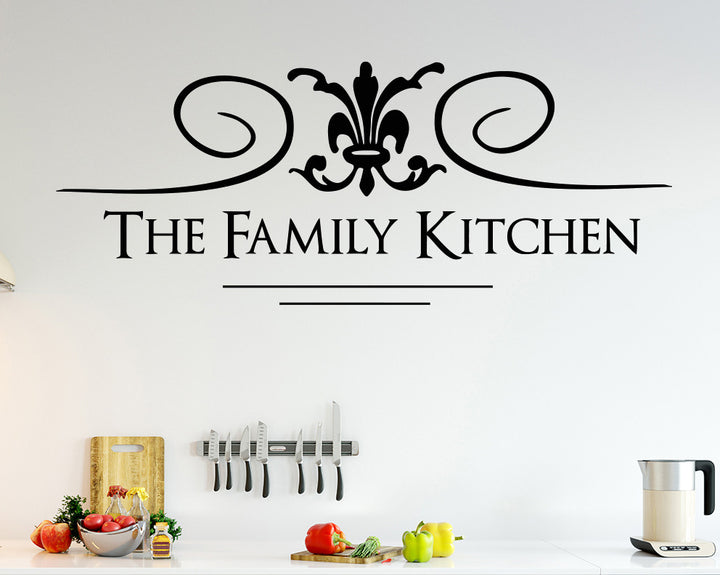 Family Kitchen Sign Decal Vinyl Wall Sticker