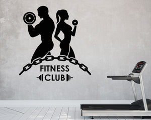 Fitness Club Decal Vinyl Wall Sticker