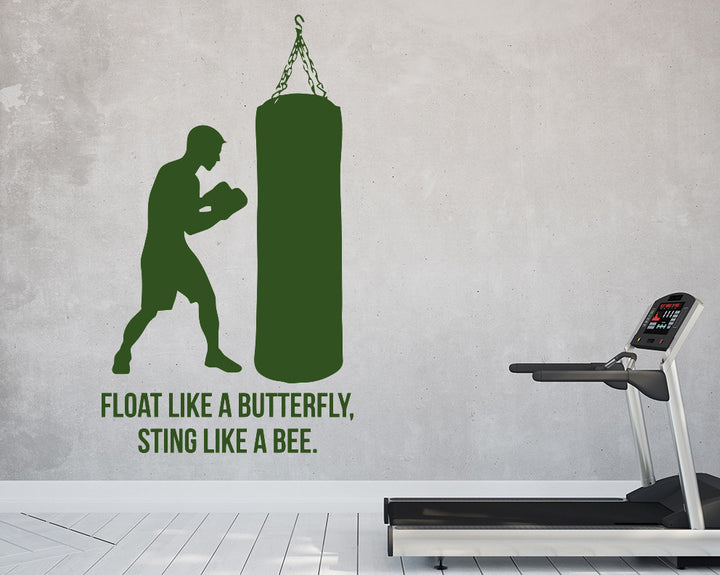 Sting Like A Bee Boxing Decal Vinyl Wall Sticker