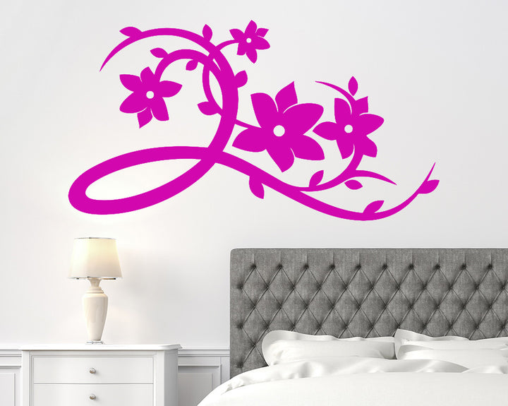 Floral Flower Branch Decal Vinyl Wall Sticker