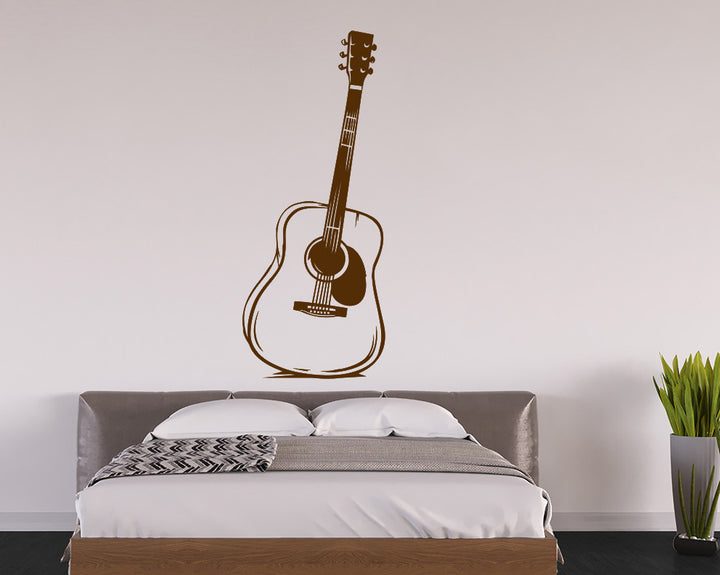 Music Acoustic Guitar Decal Vinyl Wall Sticker