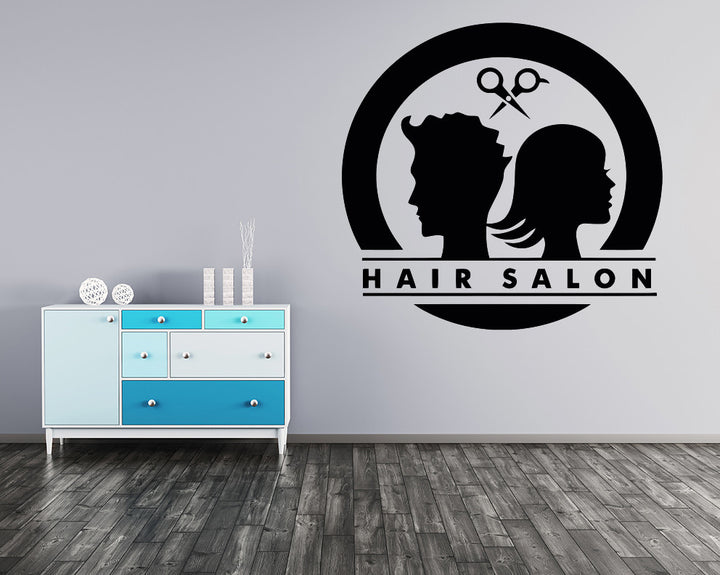 His Hers Hair Stylist Decal Vinyl Wall Sticker