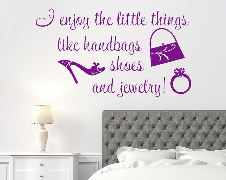 Fashion Little Things Decal Vinyl Wall Sticker