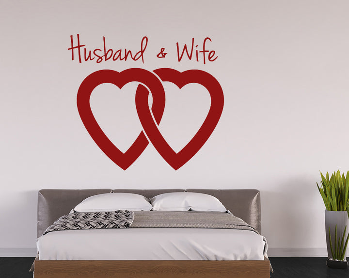 Linked Hearts Marriage Decal Vinyl Wall Sticker
