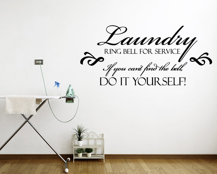Funny Bell Service Quote Decal Vinyl Wall Sticker