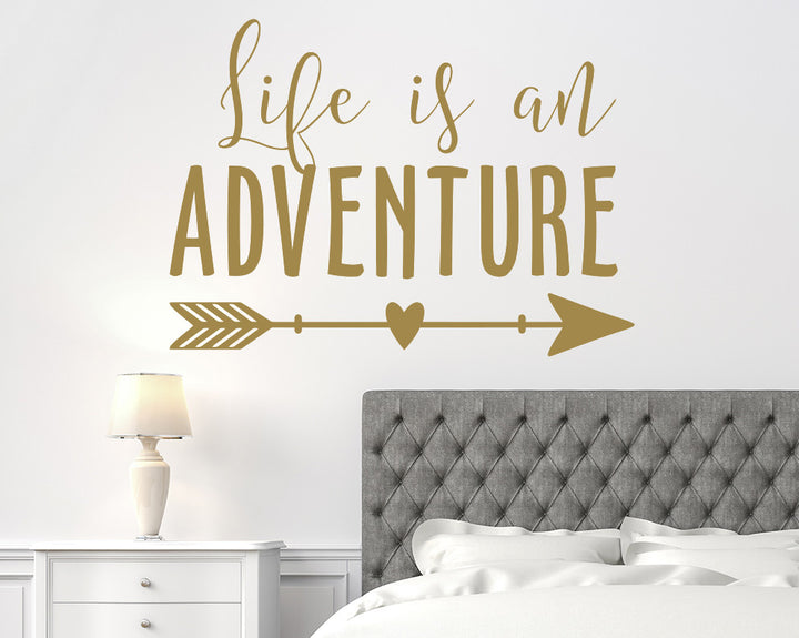 Life Adventure Quote Decal Vinyl Wall Sticker