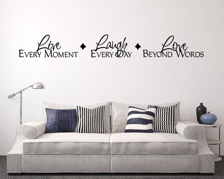 Live Every Moment Quote Decal Vinyl Wall Sticker