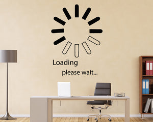 Loading Please Wait Computer Decal Vinyl Wall Sticker