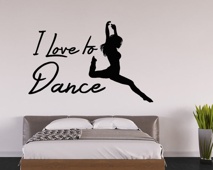 Love To Dance Decal Vinyl Wall Sticker