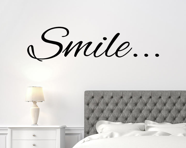 Happy Smile Decal Vinyl Wall Sticker