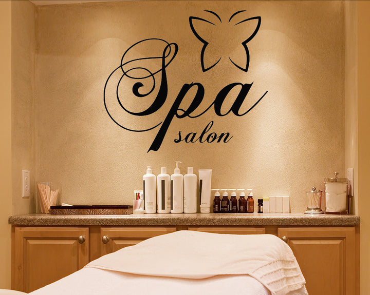 Spa Butterfly Decal Vinyl Wall Sticker
