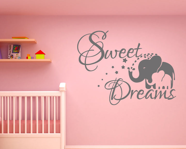 Sweet Dreams Elephant Decal Vinyl Wall Sticker