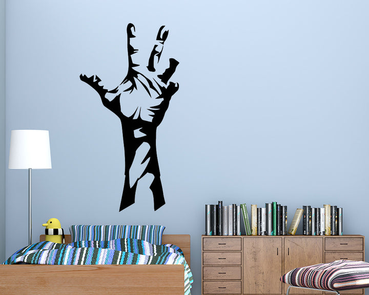 Zombie Hand Arm Decal Vinyl Wall Sticker