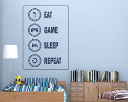 Gaming Routine Decal Vinyl Wall Sticker
