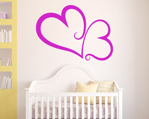 Connected Hearts Decal Vinyl Wall Sticker