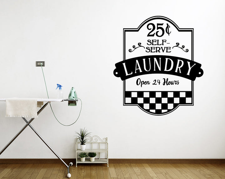 Self Serve Laundry Decal Vinyl Wall Sticker